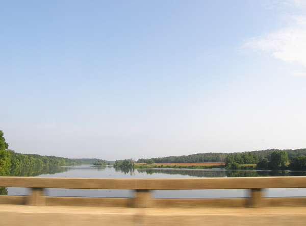 View from a bridge in South Carolina, at 55mph