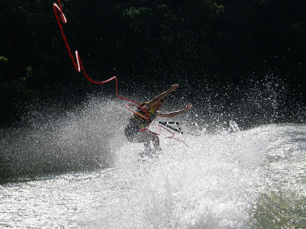 Wakeboard wipeout.