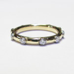 10 for Lynn - recycled 18k gold and .5ct diamond anniversary band