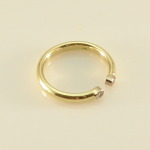 18k gold and diamond open ring
