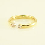 18 royal yellow and diamond open ring
