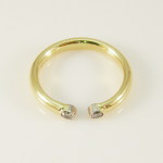 18 karat gold and diamond open ring