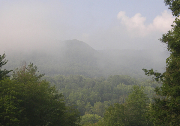 Misty mountains in North Carolina