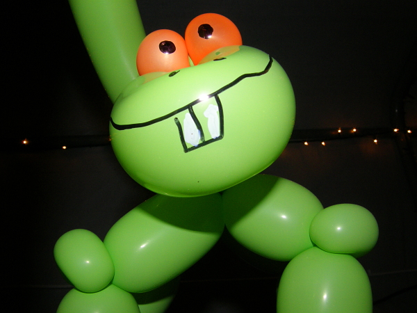Bucky the balloon dinosaur