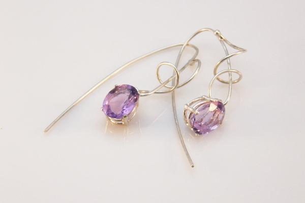 Pink amethyst earrings for Laraine