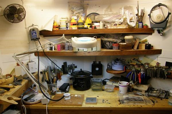 Mahi's studio.