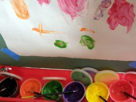 Today's inlet: Finger paints.