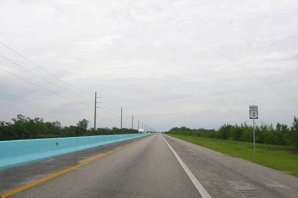 Overseas Highway on a cloudy day.