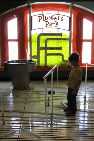 Plumber's Park water playground at Port Discovery Children's Museum