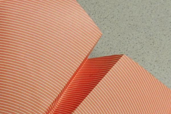 Closeup of a paper airplane
