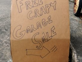 Today's inlet: Free crapy garage sale