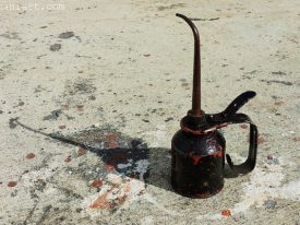 Today's inlet: Oil can.