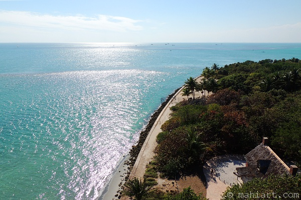 Key Biscayne light house keeper's residence viewed from the lighthouse