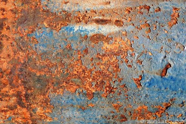 Closeup of rusty bollard
