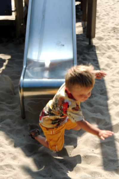 slide, playground, playing
