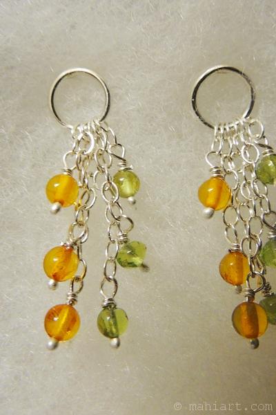 Custom made sterling silver earrings