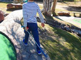 Mini golfer.