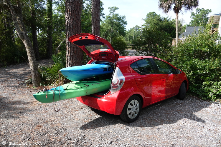 Kayak carrier.