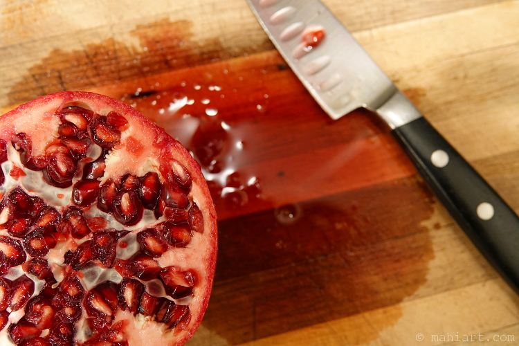 Graphic pomegranate.