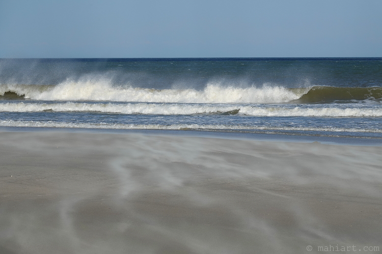 Blustery beach.