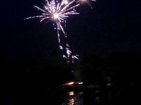 Today's inlet: Fireworks over the creek.