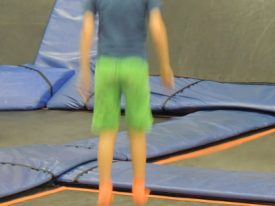 Trampolines.