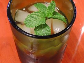Minty drink.
