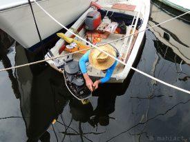 Outboard repair.