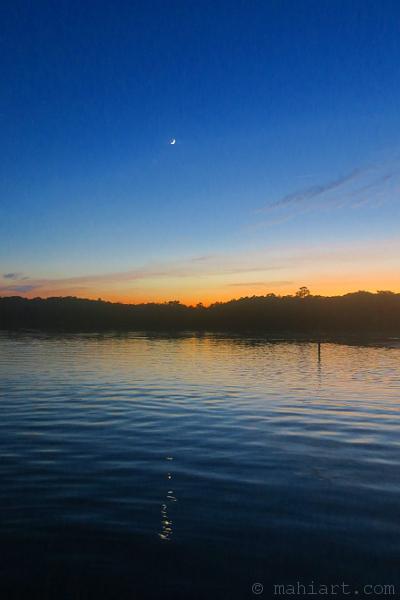 Moon over Murrells Inlet.