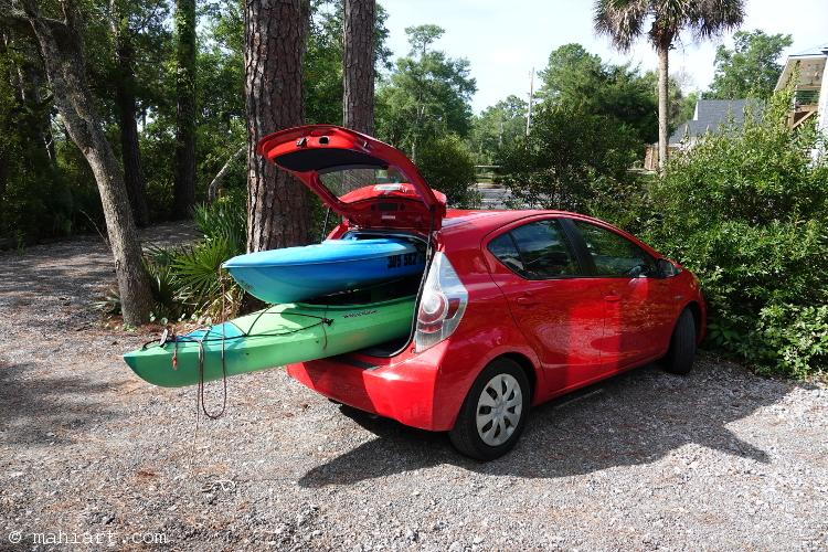 Kayak carrier.
