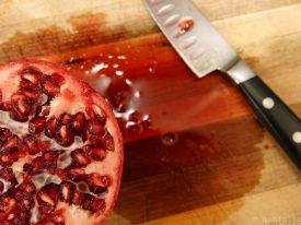 Graphic pomegranate.