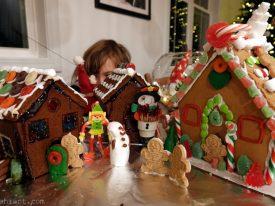 Gingerbread village.