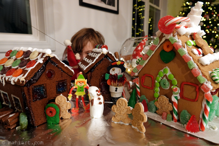 Gingerbread village.
